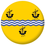 Outer Hebrides Flag 25mm Pin Button Badge